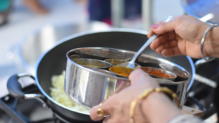 Indian Cooking - Savory Virtual  Live