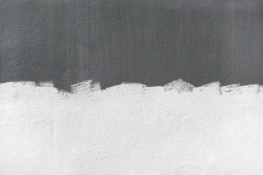 Mur à moitié peint