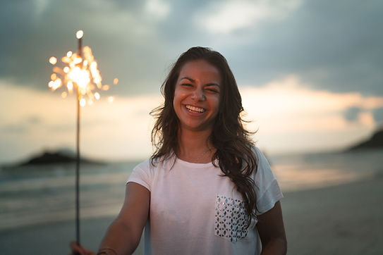 Woman with Firecracker
