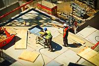Coupe de bois de chantier