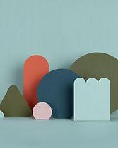 Structures en papier Torquoise