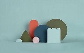 Estruturas de papel Torquoise