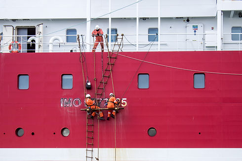 Cleaning a Cruise Ship