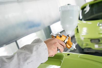 Painting a Car Green