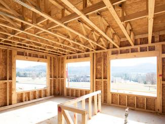 Holzrahmen des Hauses