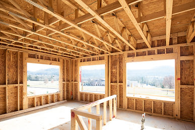 Wood Frame Construction of House
