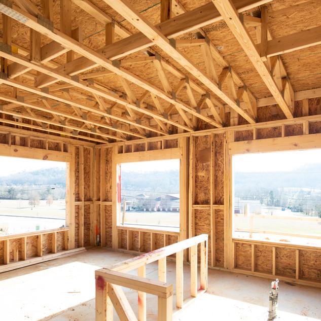 Moldura de madeira da casa