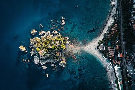 Photographie aérienne de la nature