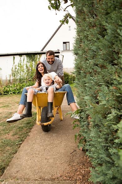 Playing on the Wheelbarrow