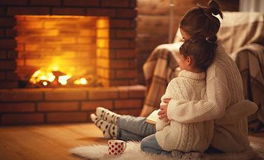 Fireplace Cuddle