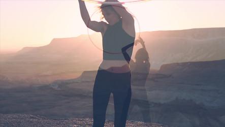 Desert Hula Hooping