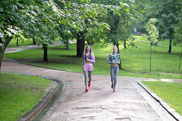 Young Girls Running
