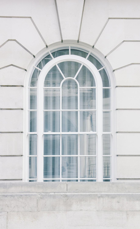 White Arch Window