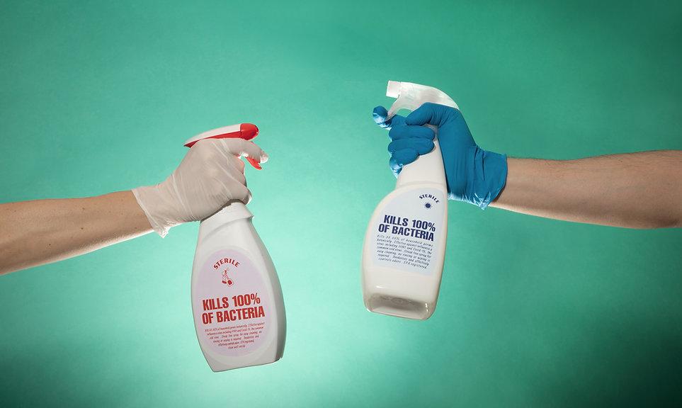 Desinfektionssprühflaschen