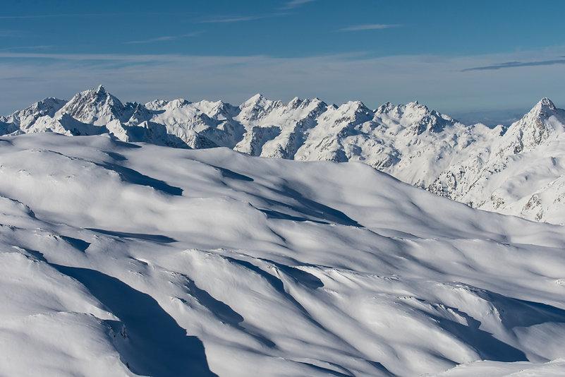 Alpes sous la neige