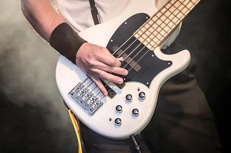 A White Bass Guitar