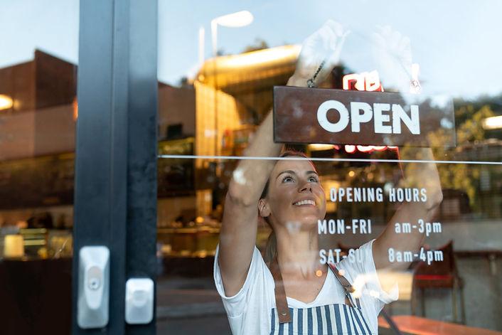 Ouvrir le signe du magasin