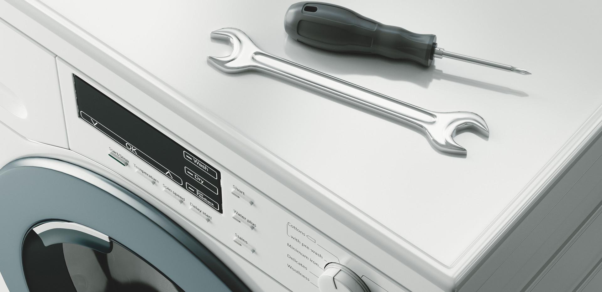 Manutenção da máquina de lavar