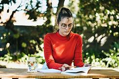 Studying in Garden