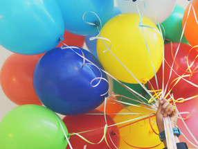 Kids, balloons and happiness...