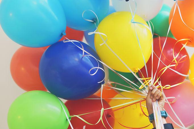 五顏六色的氣球