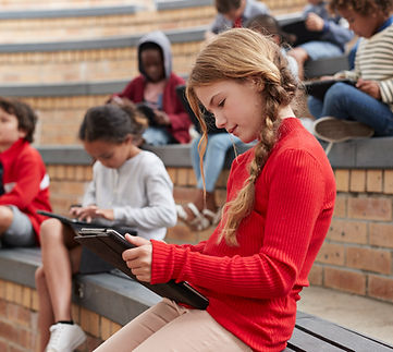 Students with Digital Tablets