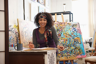 Professional Woman Painter