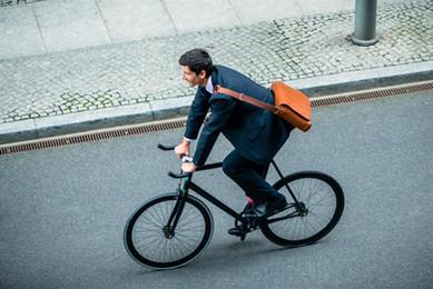 Fahrradfahren zur Arbeit