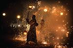 Spectacle de danse du feu