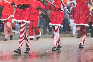 Desfile de Navidad bailarines