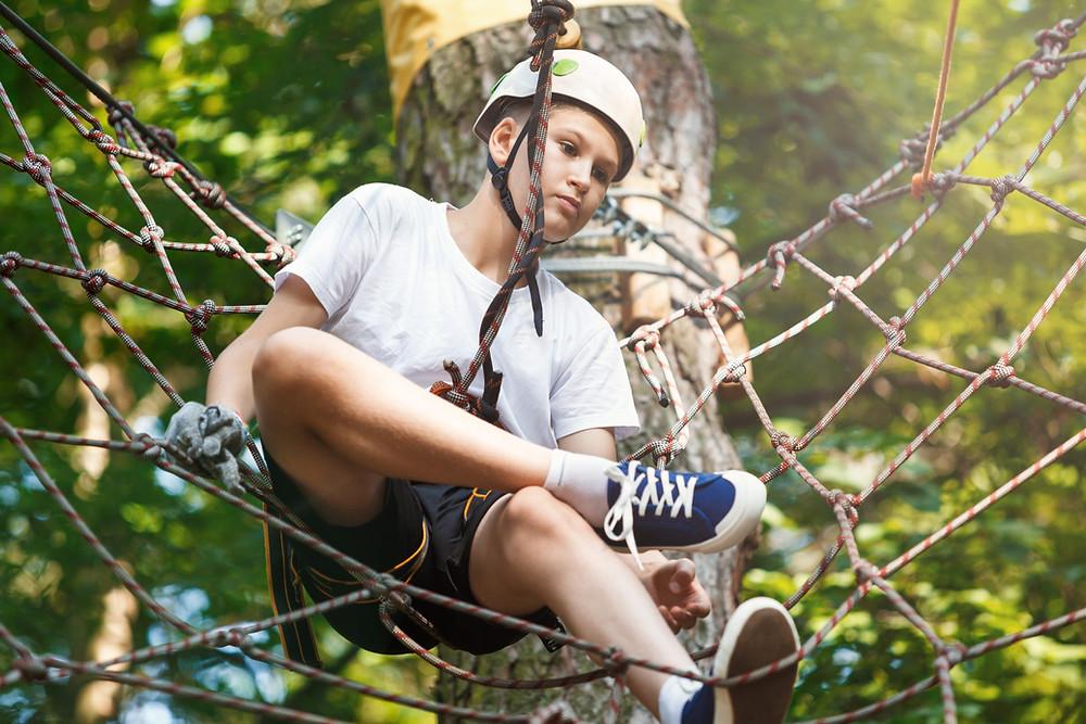 grimp in forest amusement exterieur parc aventure pour profiter de l'apres covid 19