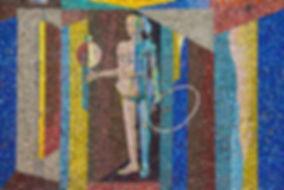 Mosaik af kvinde