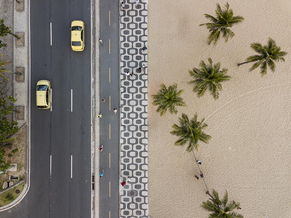 desert road sidewalk back to nature society