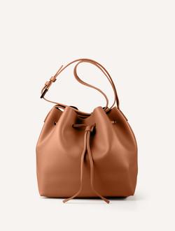 ブラウンバケットバッグ