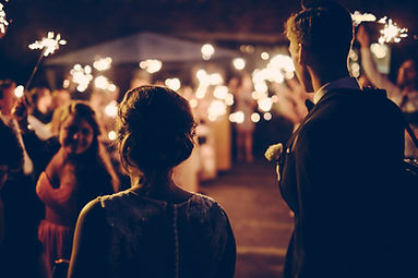 Candlelit festival wedding venue