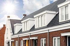 Huizen met dakkapellen