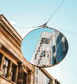 Street Mirror Reflection