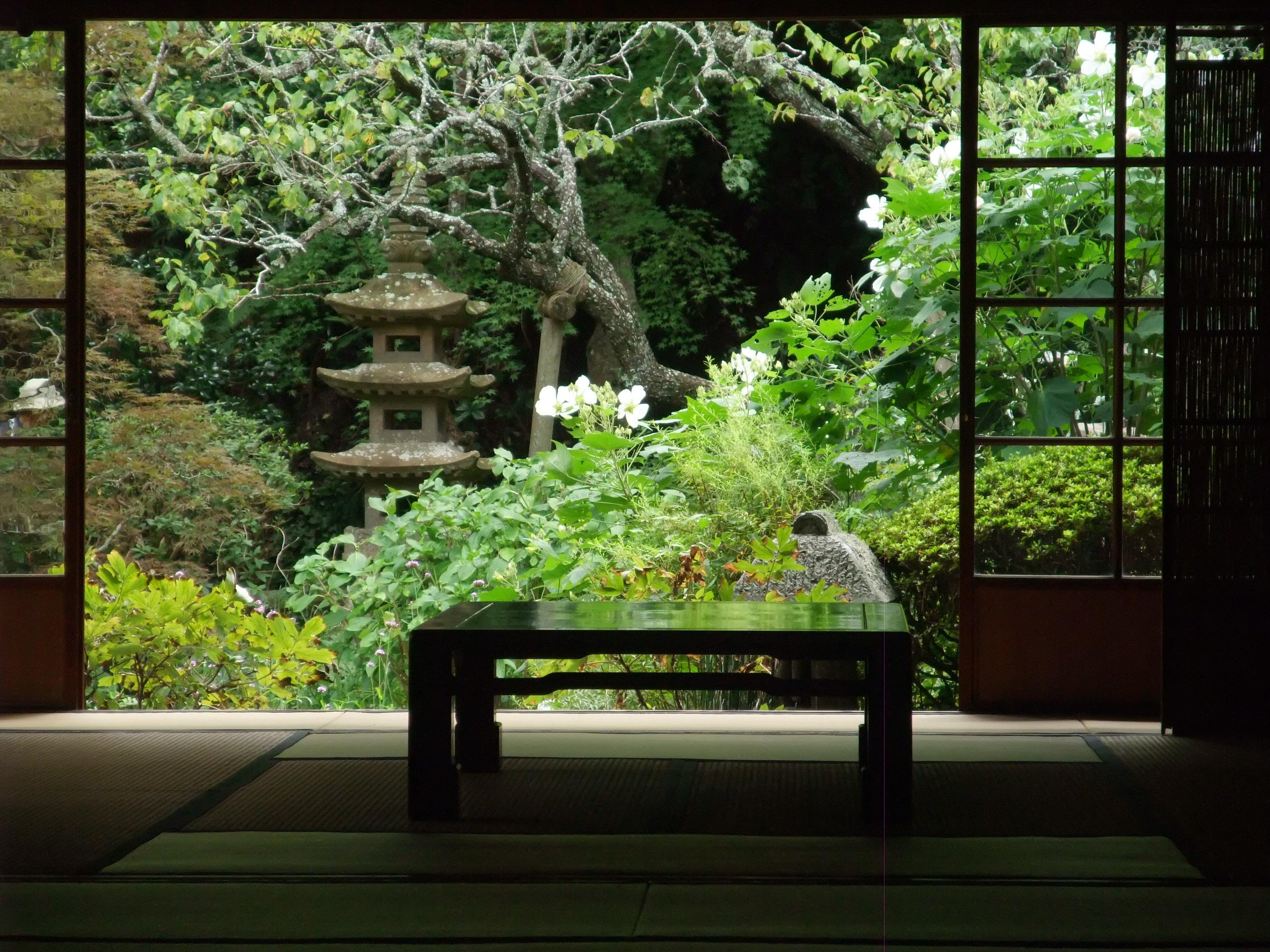 日本庭園の為の家