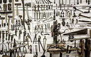 Curated display of wrenches and other tools to empower nonprofits and businesses with the resources they need to grow and make a difference