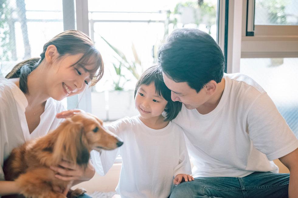 犬のいる暮らし 家族