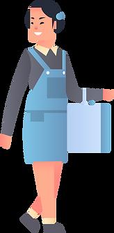 Mädchen mit Tasche