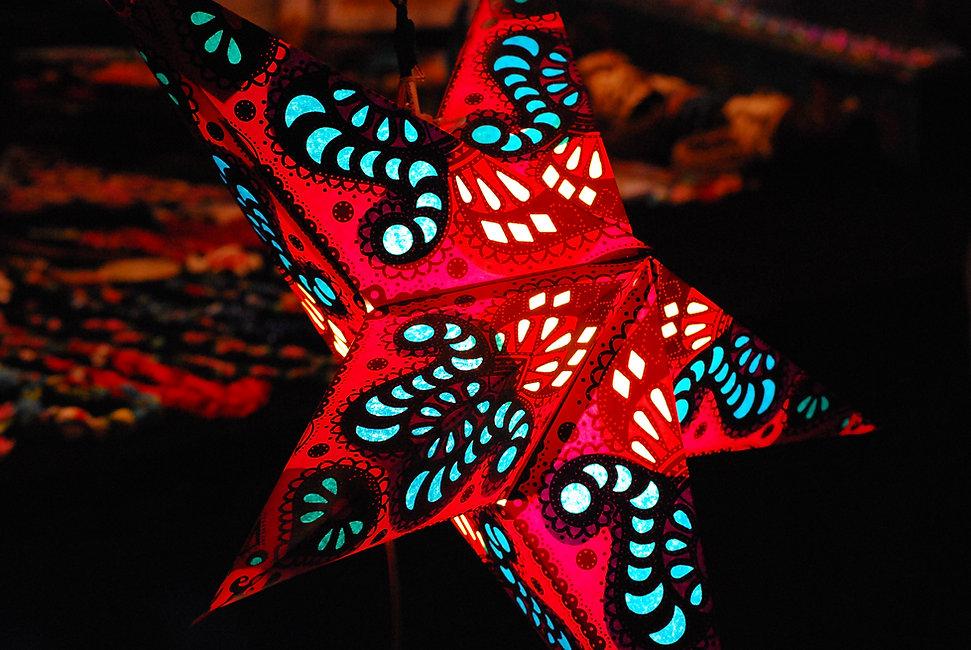 Decoração estrela vermelha
