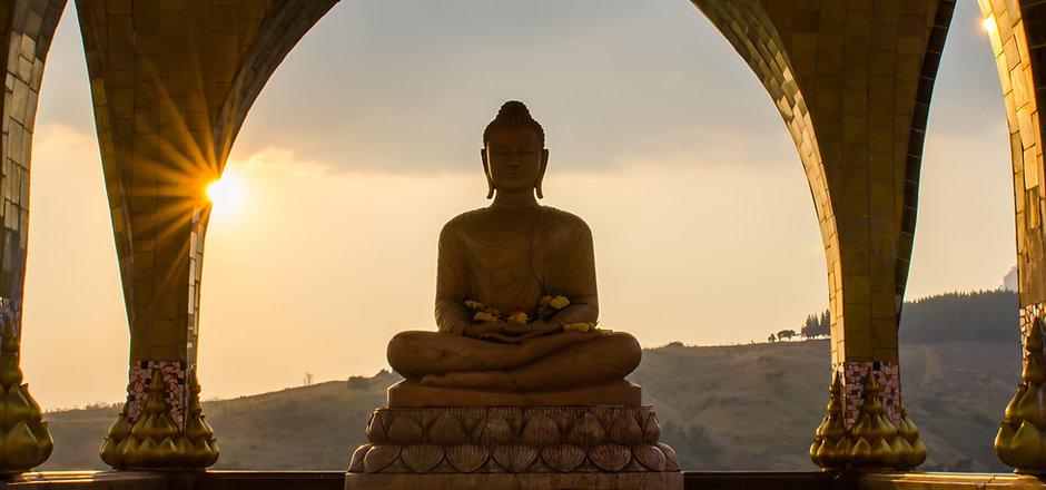 Sunset Buddha Statue