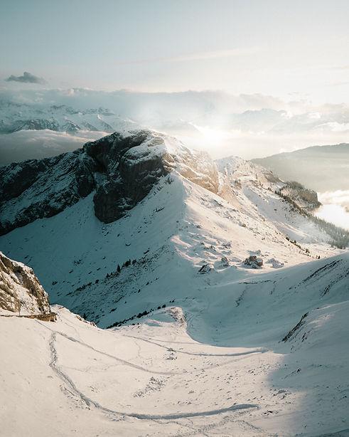 Snow Over Mountains
