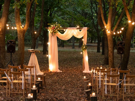 A romantical setup for your forest wedding abroad in Denmark