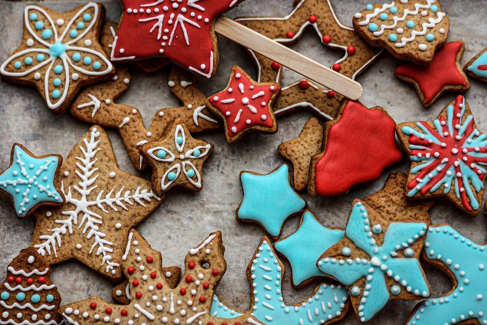 christmas cookies, sugar cookies, cut out cookies