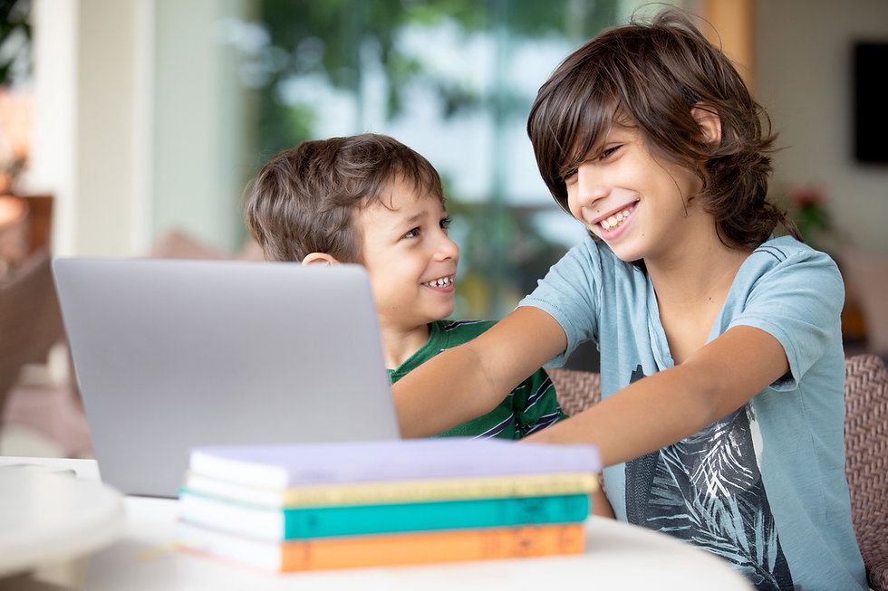 Happy Children learning online