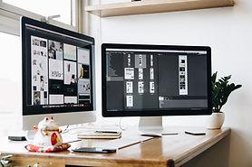 Bureaublad computerschermen