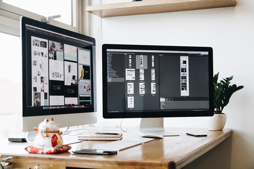 Écrans d'ordinateur de bureau