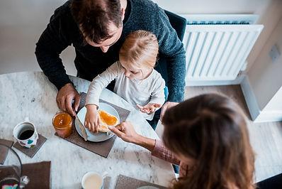 Family Preparing Breakfast
